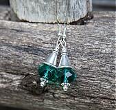 Náušnice - Emeraldové  - 4040008_