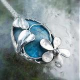 Náhrdelníky - Modrá neha - 4041108_