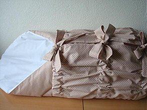 Textil - ♥♥♥ZAVINOVAČKA BLEDO HNEDÁ BODKA♥♥♥ - 4045027_