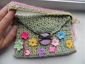 Detské tašky - detská zelená taštička - 4044197_