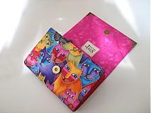 Peňaženky - Luxusní barevné čičiny - až na 12 karet - 13 cm - 4043037_