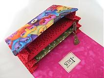 Peňaženky - Luxusní barevné čičiny - až na 12 karet - 13 cm - 4043154_