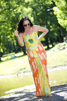 Šaty - Letné šaty oranžové - 60% - 4042325_