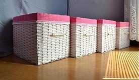 Košíky - Boxy ružové :) - 4043240_