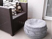 Úžitkový textil - Puf, podsedák - škandinávsky - 4044945_