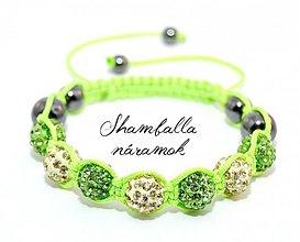 Náramky - LUX shamballa náramok spiring green - 4046569_