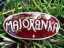 Dekorácie - Zápich Majoránka - posledné ks - 4050097_