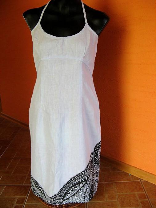 Letné ľanové šaty   MeineKunst - SAShE.sk - Handmade Šaty 7931c275f33