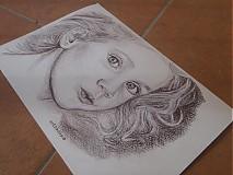 Kresby - kráska :-) ,portrét A4 - 4048339_