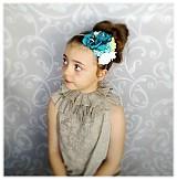 Ozdoby do vlasov - Čelenka -Mentolka. - 4053415_