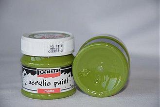 Farby-laky - Matná akrylová farba, olivová - 4054057_