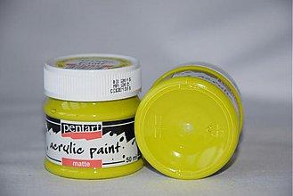 Farby-laky - Matná akrylová farba, limetková - 4054114_