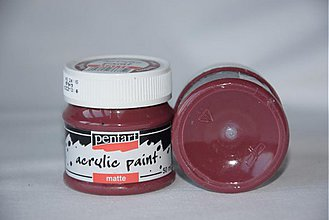 Farby-laky - Matná akrylová farba , bordová - 4054131_