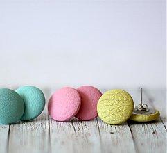Náušnice - Letné zmrzlinové náušnice 19mm potiahnuté koženkou veľa farieb na výber (mentolova) - 4052214_
