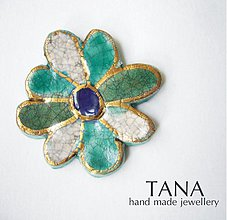 Odznaky/Brošne - Tana šperky - keramika/zlato - 4050930_