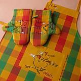 Úžitkový textil - JARNÍ JARABÁCI - zástěra a chňapky - 4052478_