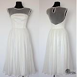 Šaty - Tylové spoločenské šaty s bodkami vo vintage štýle - 4053066_