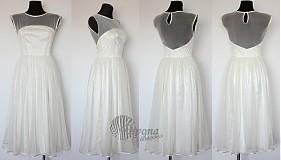Šaty - Tylové spoločenské šaty s bodkami vo vintage štýle - 4053069_