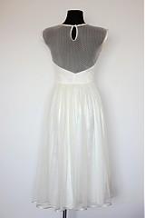Šaty - Tylové spoločenské šaty s bodkami vo vintage štýle - 4053071_