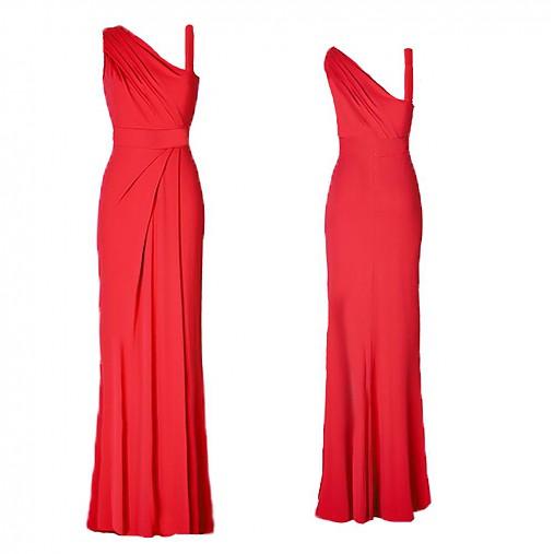 Elastické spoločenské šaty na jedno plece rôzne farby   Dyona ... 9539ee16f71