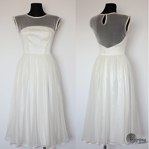 6f77ce988 Tylové spoločenské šaty s bodkami vo vintage štýle / Dyona - SAShE ...