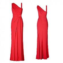 Šaty - Elastické spoločenské šaty  na jedno plece rôzne farby - 4050916_
