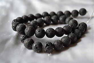 Minerály - Lávový kameň, 10mm, 0.11€/ks - 4051049_