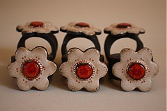 Dekorácie - Krúžky na servitky 6ks - 4057662_