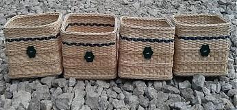 Košíky - Quecinové šuflíky - 4057858_