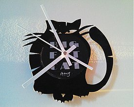 Hodiny - BIG FAT CAT zerotwo - vinylové hodiny - 4055443_