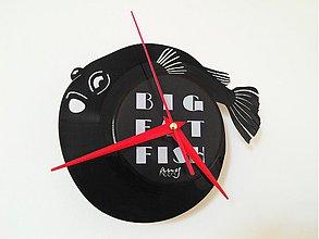 Hodiny - BIG FAT FISH zerotwo - vinylové hodiny - 4056886_