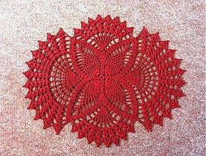 Úžitkový textil - Ananásiková s oblúkmi, bordová - 4057468_