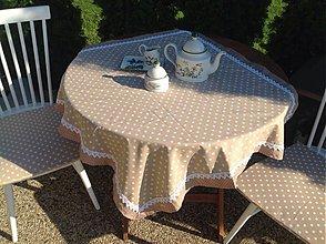 Úžitkový textil - Bodkované doplnky / suprava / - 4058454_