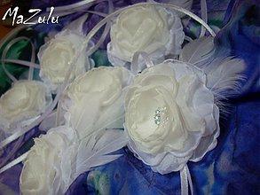Náramky - svadobné náramky pre družičky IVORY/biela - 4058064_