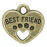 Prívesok srdiečko BEST FRIEND