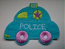 Aplikácia / nažehlovačka policajné autíčko