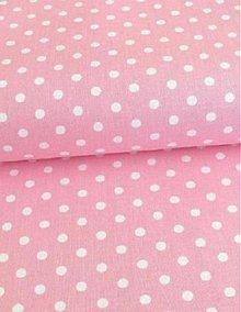 Textil - Látka baby bledo-ružová bodka 5 mm - 4062417_