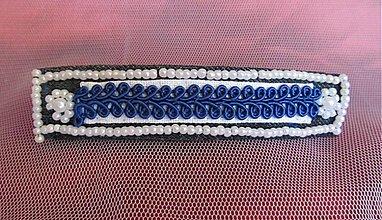 Ozdoby do vlasov - modrá a elegantná - 4062434_