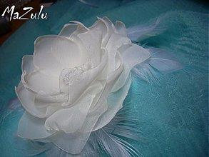 Ozdoby do vlasov - svadobný kvet do vlasov - 4061187_