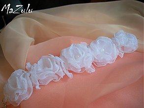 Náramky - svadobný náramok BIELY - 4061712_