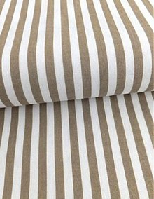 Textil - Bavlnená látka béžový pásik 6 mm - 4063837_