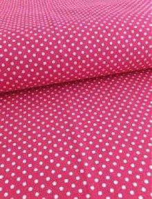 Textil - Látka ružová bodka 2 mm - 4063930_
