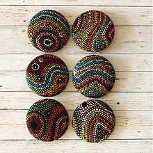 Materiál ručne robený - Buttony Aborigines 38 mm - 4066117_