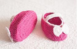 Topánočky - háčkované balerínky - 4065388_