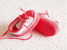 háčkované tenisôčky ružové