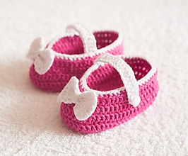 Detské topánky - háčkované balerínky - 4065386_