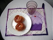 Úžitkový textil - fialový muffin - 4063882_