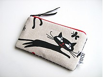Kľúčenky - Tak jóóó kočky - klíčenka, peněženčička, na karty - 4064477_