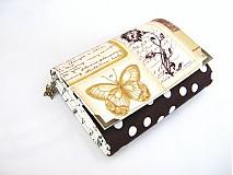 Peňaženky - Pretty Women- Zlatý motýlek - peněženka i na karty - 4065005_