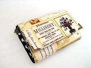 Peňaženky - Vintage Millinery from New York -peněženka i karty - 4064996_